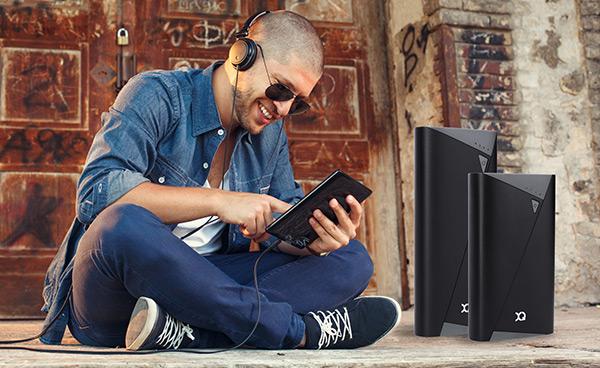 Xqisit Black/Grey 5200 mAh Portable Power Bank