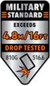 Military Grade Drop Protection 16ft