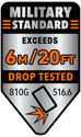 Military Grade Drop Protection 10ft