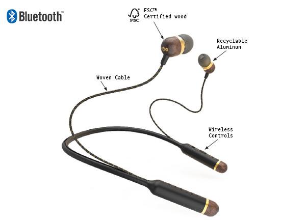 House of Marley Smile Jamaica BT headphones Diagram